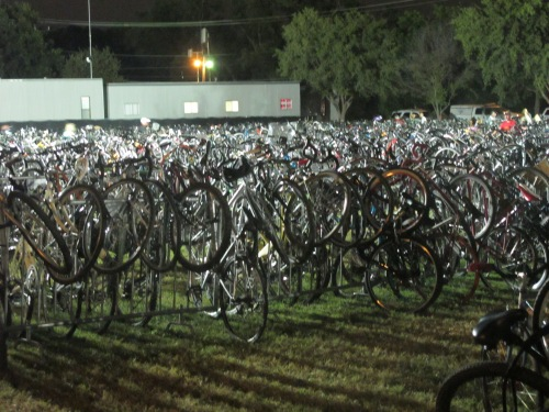 "Saturday night ACL Music Festival ""parking lot."" Impressive!"