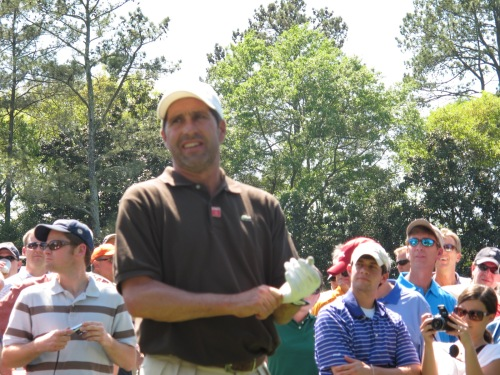 Masters champion Senor Olazabal tastefully appointed at the 2011 Masters. It looks good on him.